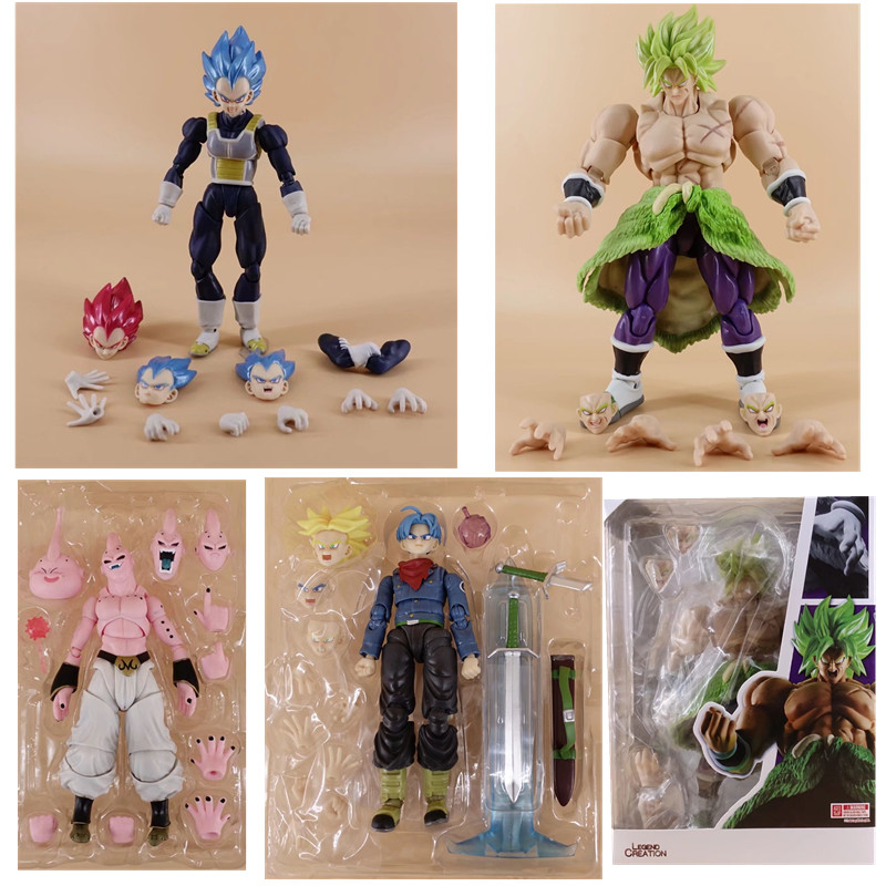 15cm SHF Dragon Ball Anime Toy Super Saiyan Broly Vegeta Trunks Devil Buu Fierce Battle Action Figure Collectible Model Toys