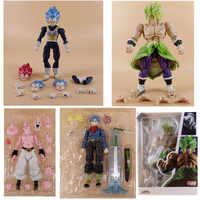 15cm SHF Dragon Ball Anime Toy Super Saiyan Broly Vegeta Trunks Devil Buu Fierce Battle Action Figure Collectible Model Toys