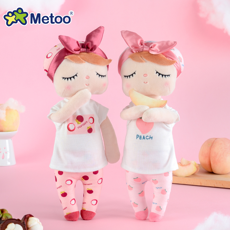 Metoo Newest Plush&Stuffed Sweet Rabbit Cute Animals For Kids Toys Angela Doll For Girls Birthday Christmas Gift Fruit Series image