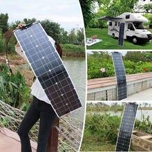 Módulo monocristalino flexível de slendersolar dos painéis solares 50w 16v para a bateria estreita de 12v dos lugares/caravana/rv/barco