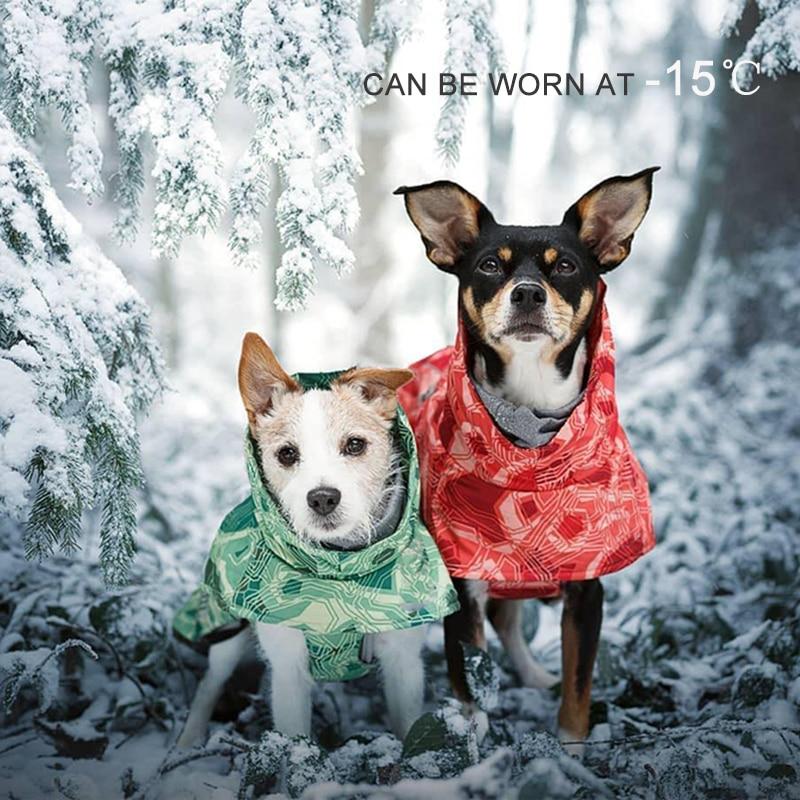 Ветрозащитная теплая одежда для собак для больших собак зимняя водонепроницаемая куртка для собак хлопковый утепленный лыжный костюм пальто для питомцев Одежда для питбуля-0