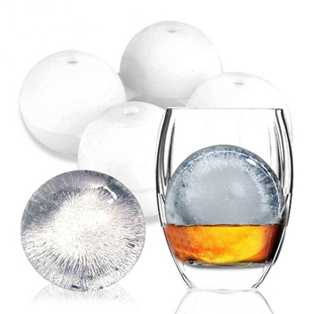 Big Ice Hocke Food grade Silicone Round Ball Whiskey Ice Hockey Mold Tray With Lid Kitchen Tools Ice Cream Tools image