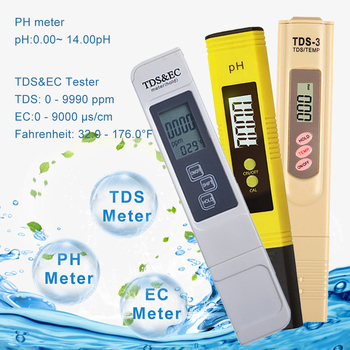 yieryi new tds ph meter ph tds ec temperature meter digital water quality monitor tester for pools drinking water aquariums LCD Display 2pcs PH Tester+TDS& EC Meter/TDS-3 Meter/ PH Paper Tester Meter for Measure Water Quality Purity Swimming Pool