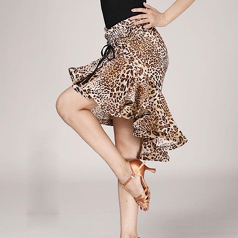Latin Fishtail Skirt For Female Adults Latin Practice Performance Dancing Costumes Half Length Print Skirt Sexy Tops Women Dance