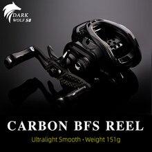 TSURINOYA DARK WOLF 50 BFS baitcaster 151g Carbon Saltwater Smooth Ultralight Fishing kołowrotek do okonia tilapia trout
