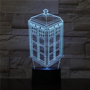 3D-1595 коробка для звонков ТАРДИС 3d лампа ночник детский подарок для ребенка телефонная будка полицейская коробка декоративная лампа Доктор ...