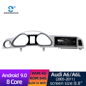 Android 9.0 System 8 Core Car Radio DVD GPS tocuh Screen Multimedia player Built In WIFI for Audi A6/A6L 2005-2011