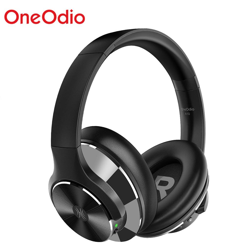Écouteurs sans fil OneOdio A10 Bluetooth V5.0 écouteurs Bluetooth à suppression Active du bruit avec chargement rapide des basses Super profondes