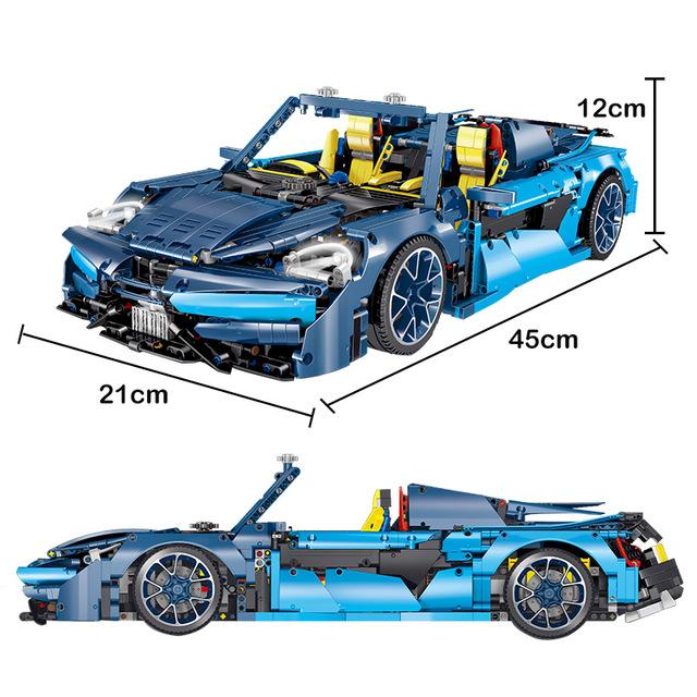 2655PCS 1:10 City Mini Sports Car Bugatti MOC Model Vehicle Technic Racing Car Building Blocks Bircks Toys For Children Boys