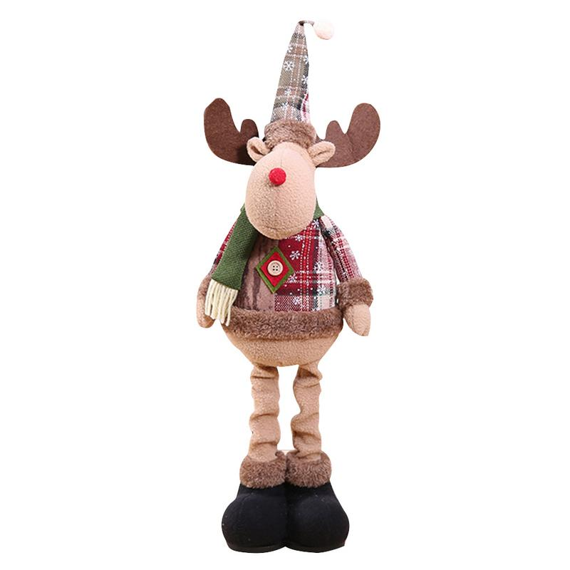 Хит, 30 стилей, рождественские украшения для дома, Рождественские куклы, елочные украшения, инновационная декорация с лосем, Сантой, снеговиком - Цвет: C 60x18cm