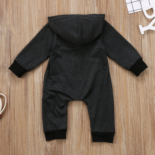 Warm, Zippered, Cotton Long Sleeved Hooded Jumpsuit  5
