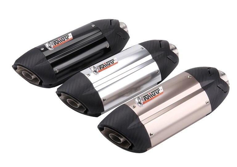 Глушитель выхлопной трубы, Универсальный 51 мм для мотоцикла rcycle MIVV, выхлопная труба, с DB killer для Z800 Devil Monster 796, Модифицированная выхлопная тру...