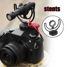 Kamera sıcak ayakkabı şok dağı ile Rycote lir braketi yol VideoMicro VideoMic Me mikrofon GK99