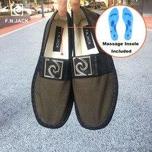F.N.แจ็คชายรองเท้าพื้นรองเท้านวดผ้าใบสมาร์ท Casual รองเท้ารองเท้า tenis Masculino adulto macvise ultra