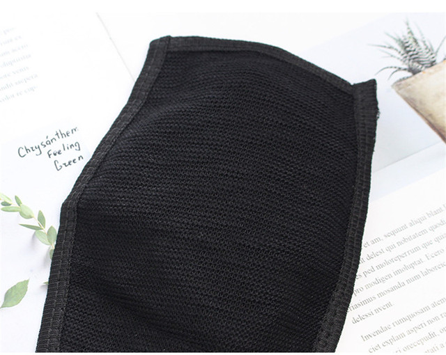 Hot Black Windproof Face Masks Anti-Dust Cycling Respirator Cotton mouth Face Mask Proof Flu Face Masks solid Mouth Mask Muffle 5