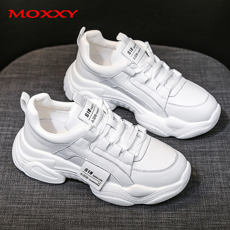 2019 New Fashion White Sneakers Women Casual Shoes Woman PU Leather Comfort Chunky Sneakers Trainers Basket Chaussure Femme