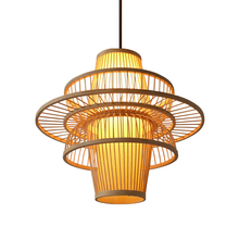 Southeast Asia Art Bamboo Wicker Rattan Pendant Lamp Modern Led Dining Room Light Fixtures Decor Hanging Lamp Lighting Luminaire 30 40 50cm wicker rattan ball globe sphere pendant light fixture modern rustic country hanging lamp avize luminaria dining room