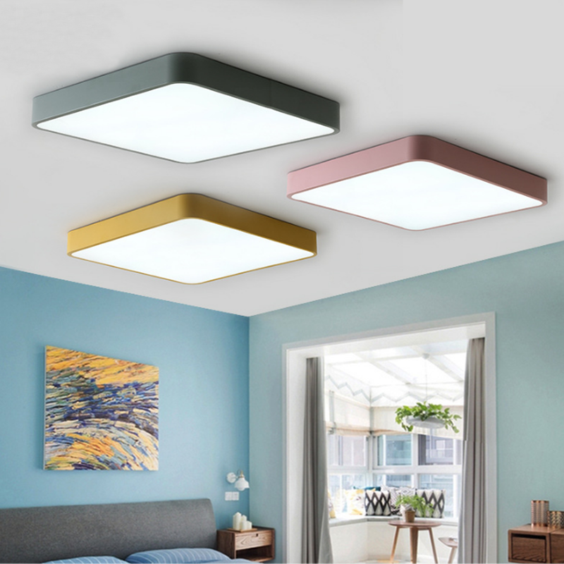 Modern minimalist LED ceiling light simple surface embedded remote control dimming ceiling lamp kitchen living room bedroom studCeiling Lights   -