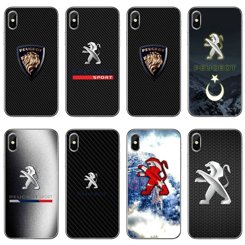 Phone Case For Sony Xperia Z5 C6 L2 XA1 XA2 XZ1 XZ2 Compact Premium LG G5 G6 G7 Q6 Q7 Q8 Q9 V30 V20 V10 Car Peugeots Logo