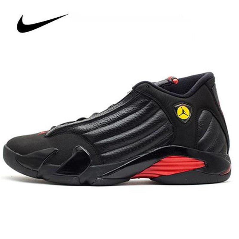 Original Nike Air Jordan 14 Last Shot  Men's Basketball Shoes High Top Basketball Unisex Jordan Women 487471-003