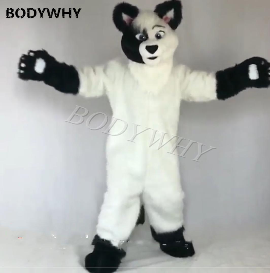 Cosplay Long Fur Fox Dog Fursuit Husky Dog Fursuit Mascot Furry Costume Party Dress Outfit Clothing Adult Fursuit