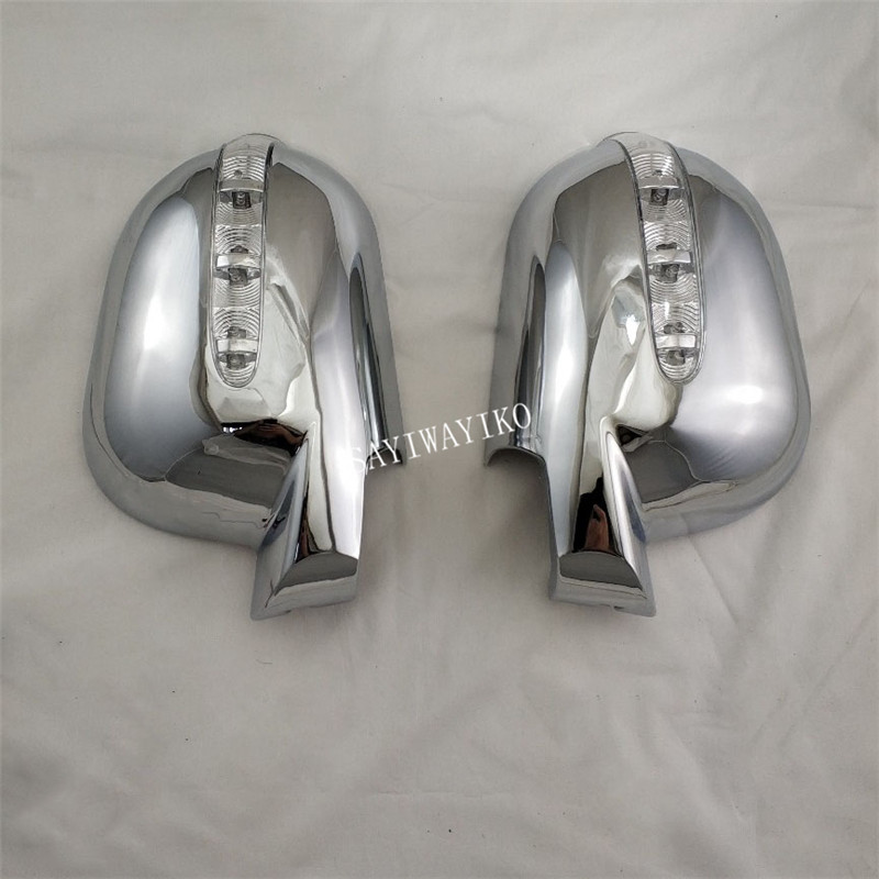 For Mercedes-Benz M-Class ML300 320 <font><b>350</b></font> 1997-2005 2PCS ABS Chrome plated Rearview door mirror covers with Led Car accessories image