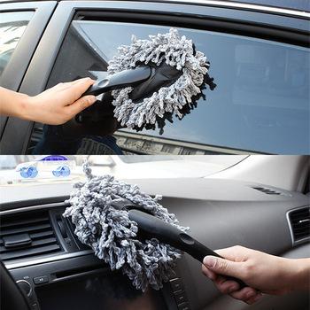 Szczotki do mycia samochodu czyszczenie pojazdu wycieranie miękkiej mikrofibry Mop szczotka do mycia narzędzie do czyszczenia samochodu gąbki tkaniny szczotki akcesoria samochodowe tanie i dobre opinie CN (pochodzenie) 30cm Nanofiber + ABS 10cm Gray Blue