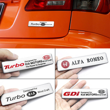 Car Accessory Aluminum Alloy Badge Trunk Body Stickers For KIA LEXUS Honda Mercedes Benz