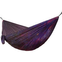 Printing Starry Sky Hammock Outdoor Camping New Style Garden Hanging Chair Parachute Fabric Sleeping Bed Hammock