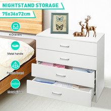 4 Drawers Bathroom Organier Chest of Drawers Modern Design Home Furniture Hallway Storage