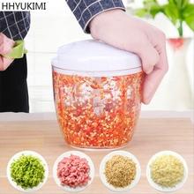 HHYUKIMI Upgrade Household Kitchen Meat Grinder Manual Food Processor for Fish Beef Fruit Vegetable Slicer Machine
