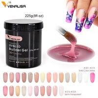 Venalisa бренд 225 г французские акриловые ногти отмачиваются led Камуфляжный цвет жесткое желе быстросохнущее наращивание ногтей гель для наращ...