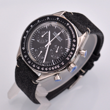 Corgeut 40mm nouvelle montre pour hommes à Quartz de luxe chronographe fonction boîtier poli.