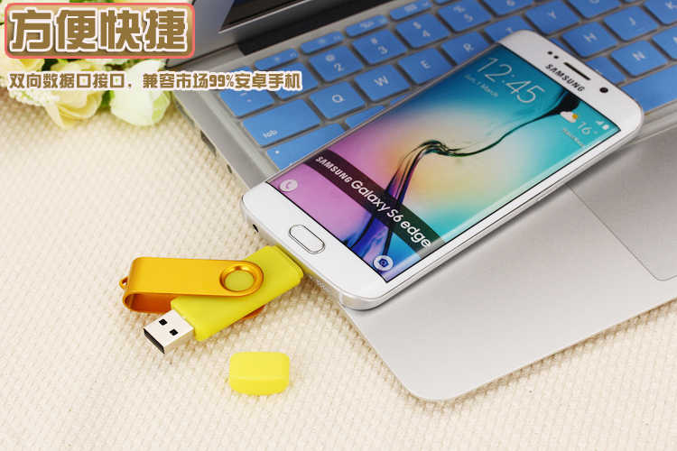 USB 2.0 Flash Drive OTG Para Android Phone Alta Velocidade Memory Stick Pen Drive 128GB GB 32 64GB 16GB 8GB USB Flash Drive de Metal