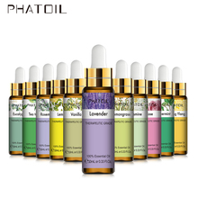 PHATOIL 10ML with Dropper Lavender Eucalyptus Vanilla Pure Natural Essential Oils Rose Jasmine Ylang Ylang Diffuser Aroma Oil