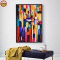 Живопись по номерам, художественная краска по номерам DIY, абстрактные цвета, простая современная живопись, наполняющий цвет, украшение для г...
