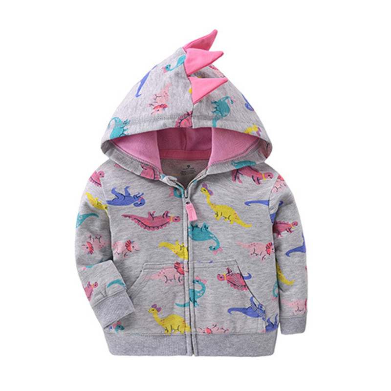 2019 baby boys girls hooded sweatshirts cotton cartoon tops truck flower whale out wear kids clothes for 9m-3years 1