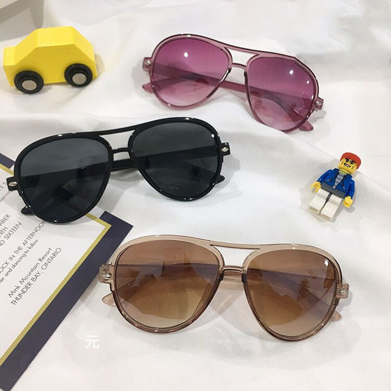 Модные зеркальные детские солнцезащитные очки, Детские градиентные цветные розовые солнцезащитные очки UV400 для девочек и мальчиков, детски...