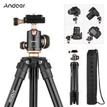 Andoer Kamera Stativ Komplette Stative mit Kugelkopf Blase Ebene Reise Stativ für DSLR Digital Kameras Camcorder Mini Projektor