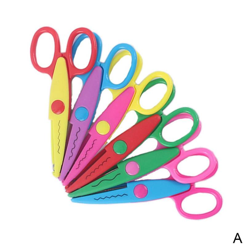 1pc Handmade Children Designer Scissors Card Photo Pattern Scissors Diy Handmade Lace Tool Scissors Set Children Stationery