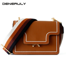 2019 Small Genuine Leather Bag Women Vintage Flap Crossbody Bags For Women Real Cow Leather Shoulder Bag  Ladies Luxury Handbags