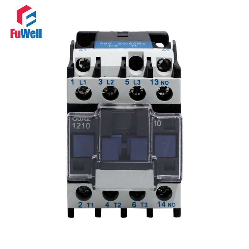 CJX2-1210 12A NO AC Contactor 24V 36V 48V 110V 220V 380V Coil Voltage Contactor Normal Open Alternating Current Contactor