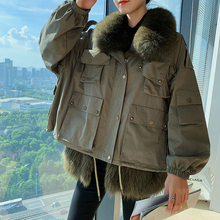 Clothing Parka-Coat Short Raccoon-Fur Winter for Autumn And Fashion San Chuan Female