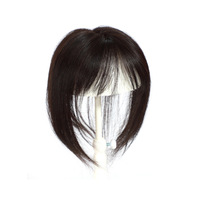 Fashion Plus Human Hair Pieces For Women 100% Remy Straight Hair Wig Replacement Volume Breathable Inner Mesh Light and Seamless