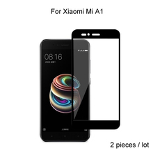 2pcs For Xiaomi Mi A1 Glass Full Cover Tempered Glass Screen Protector 9H Hardness Protective Glass For Xiaomi Mi A1 Mi 5X аксессуар защитное стекло для xiaomi mi a1 mi 5x neypo full screen glass gold frame nfg3330
