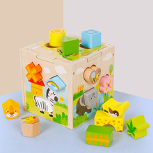 Intelligence-Box Matching Baby Kids Children for Shape Sorter Cognitive And Wooden Building-Blocks