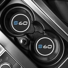 2PCS Garrafa De Xícara de Água Carro Titular Anti-slip Pad Mat Silica Gel para Volvo S60 Acessórios