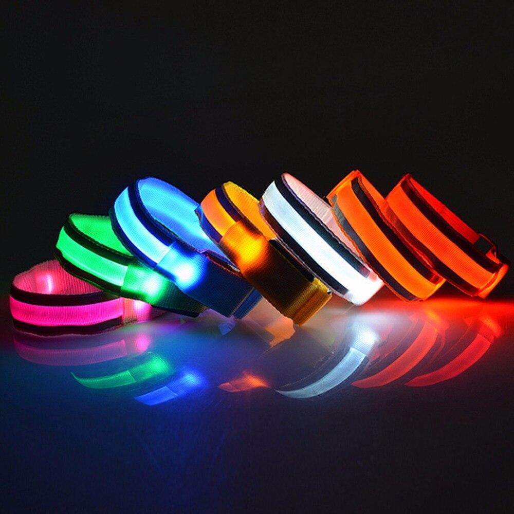 Arm Warmer Belt LED Armband LED Safety Reflective Belt Strap Snap Wrap Arm Band Armband