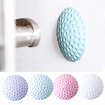 Door Stopper Handle Baby Safe Quiet Buffer Convenient Wall Sticker Door's Stopper Soft Rubber Anti-Shock Flip Silence Home Stick image