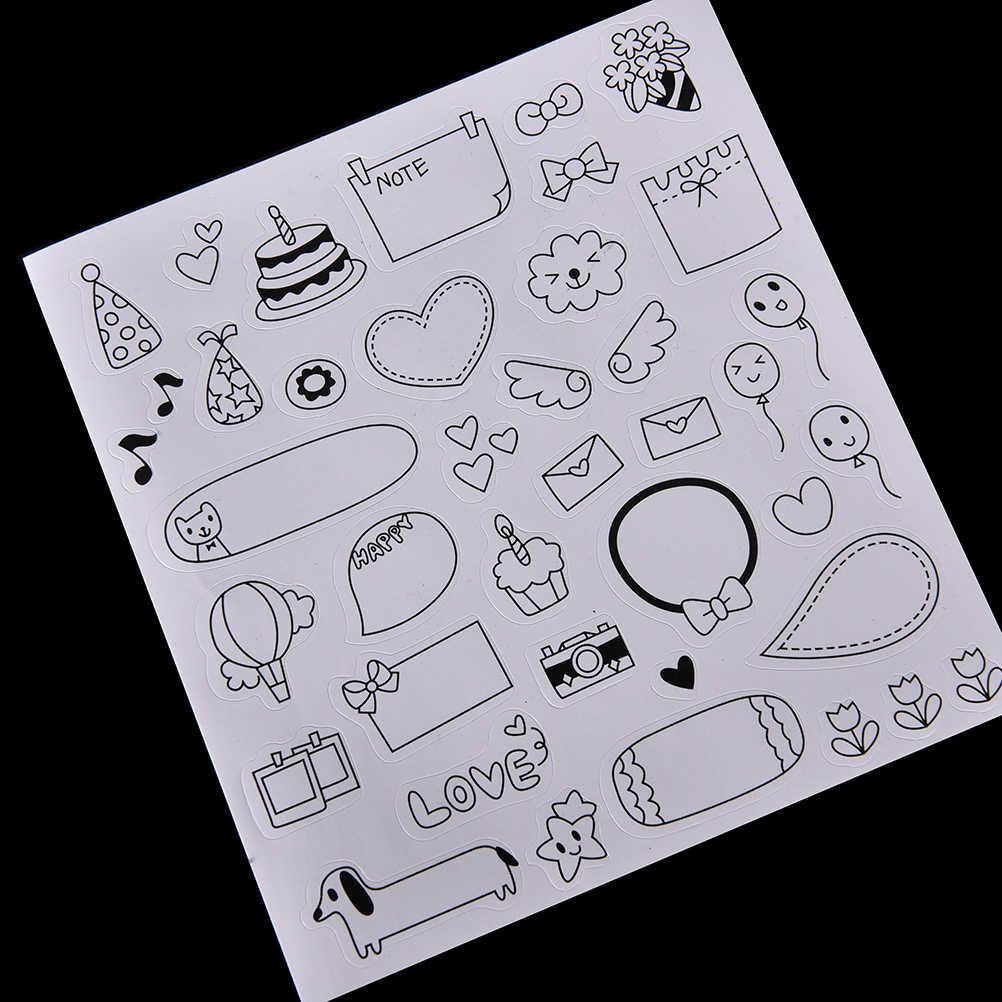 6 arkuszy/zestaw diy czarny kalendarz papierowa naklejka na notatnik kalendarz terminarz planer przyklejony dekoracja do albumu na zdjęcia dzieci dzieci